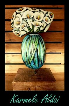 painted stones by Karmele Aldai