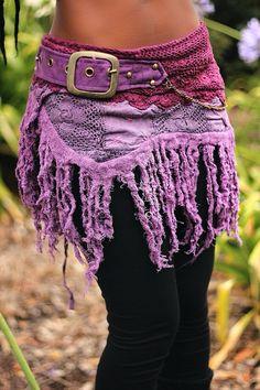 Purple Rara Skirt by GloballyLocal USDBeautiful mixed media patchwork skirt handmade from crochet, velvet and cotton. Gypsy Style, Hippie Style, Hippie Boho, My Style, Bohemian Style, Bohemian Fashion, Bohemian Clothing, Rara Skirt, Estilo Hippie