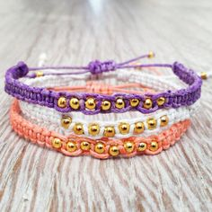 Friendship bracelet with beads. Macrame bracelet. by Olive1990, €5.50