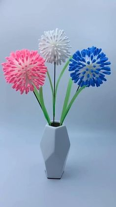 Diy Crafts For Home Decor, Diy Crafts Hacks, Diy Crafts For Gifts, Diy Crafts Videos, Paper Flowers Craft, Diy Flowers, Spring Crafts, Cotton Swab, Diy Art