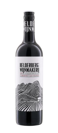 Helderberg Wine Label Design. Ink Illustration