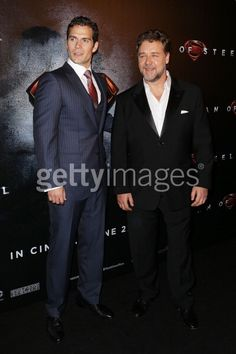 Henry Cavill and Russell Crowe...