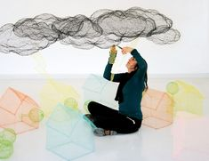 sculptures with chiken wire by Benedetta Mori -  #clouds