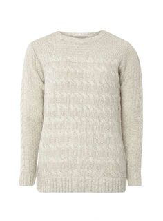 Petite Grey Cable Jumper - View All Clothing & Shoes - Clothing - Dorothy Perkins