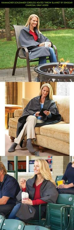 Hammacher Schlemmer Cordless Heated Throw Blanket by IonGear Charcoal Gray 60x50 #throw #parts #products #kit #shopping #plans #fpv #blanket #camera #racing #drone #tech #gadgets #technology #heating