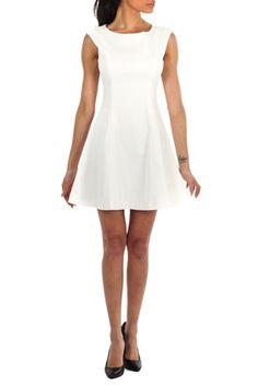 Zara Skater Dress White fra Kouture