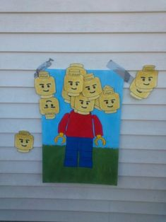Lego Birthday Party Game Pin the Head on Lego Man