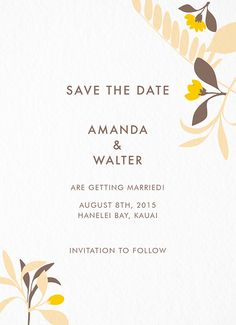 Tropic Save The Date card by Susy Jack on Postable.com