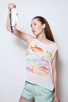 """Illustrationen treffen auf Mode: Die """"Gift Kollektion"""" von Olga Weiser für den Sommer   kalinkakalinka"""