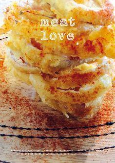 meat love | para muchos, el aperitivo más sabroso son unos aros de cebolla fritos en un crujiente rebozado y ¿para vosotros?