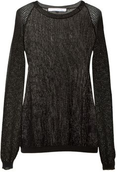 Love this: ANTHONY VACCARELLO Black Shiny Openwork Knit Sweater @Lyst