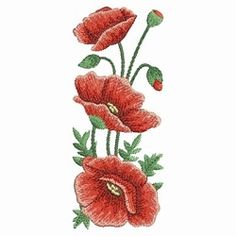Watercolor Poppies 3 - 3 Sizes! | What's New | Machine Embroidery Designs | SWAKembroidery.com Ace Points Embroidery