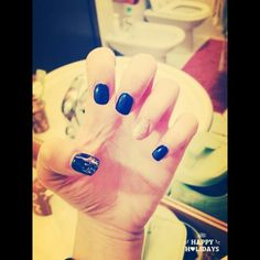 #blue #glitterchampagne #sfumatura #nails