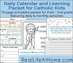 Coupon code for 20 of your entire order from holy heroes plus daily learning notebook and calendar printables for catholic kids fandeluxe Image collections