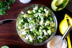 obsessively good avocado cucumber salad | smittenkitchen.com