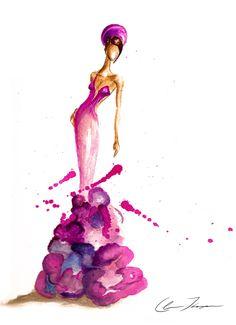 watercolor fashion illustration - Buscar con Google
