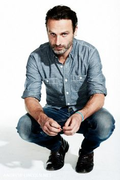 Andrew Lincoln 'eye fucking' the camera.