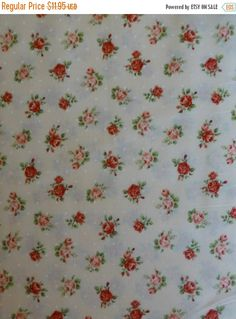 Sue's Creating Cottage Quilt Shop has the finest quilting fabrics and supplies. Shabby Chic Homes, Shabby Chic Decor, Shabby Chic Rose Fabric, Cotton Crafts, Small Rose, Decorative Pillow Covers, Rose Buds, Quilt Patterns, Cotton Fabric