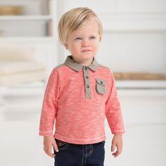 Long Sleeve Cotton Polo | Dave Bella Kids Clothes