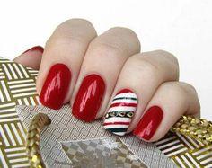 50 Fotos de uñas navideñas – Christmas Nails