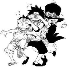 [원피스] ASL짤털-힐링에피 최고봉 (에이스x사보x루피 초스압) Anime One Piece, One Piece Luffy, Dessin One Piece, Ace Sabo Luffy, Manga Anime, Anime Siblings, One Piece Pictures, Roronoa Zoro, Anime Comics