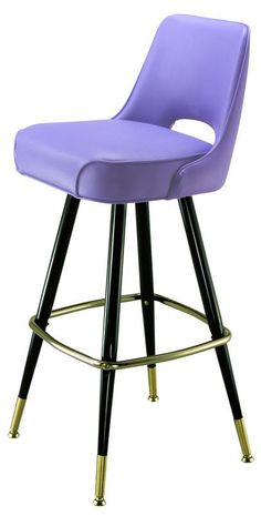 Richardson Seatings model 2502 bar stool uholstered in violet with brass ferrules, glides, and footrest. Built for restaurants and bars and made in the USA. We can make the seat in any color. It doesnt have to be purple:) Cute Bedroom Ideas, Cute Room Decor, Room Ideas Bedroom, Bedroom Decor, Purple Furniture, Cute Furniture, Furniture Vintage, Dream Rooms, Dream Bedroom