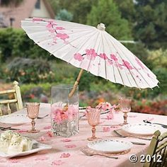 Cherry Blossom Parasol Party Favors Party Themes Events Oriental Trading 399 each Unique Wedding Favors, Wedding Themes, Party Themes, Wedding Decorations, Party Ideas, Diy Wedding, Wedding Reception, Wedding Ideas, Cherry Blossom Decor