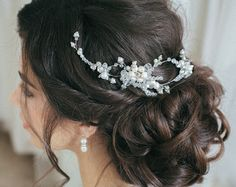 Bridal Hair Comb Pearl and Crystal Comb by PrettyYouWedding