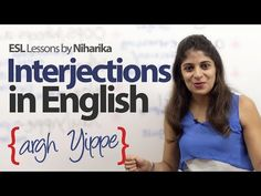 Using Interjections in English – Free English Lesson - YouTube        Repinned by Chesapeake College Adult Ed. We offer free classes on the Eastern Shore of MD to help you earn your GED - H.S. Diploma or Learn English (ESL).  www.Chesapeake.edu