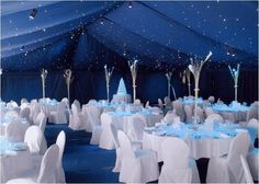 This blue star cloth has created a night sky canopy above this wedding, as the dusk comes this twinkling miracle will be so romantic!!!!