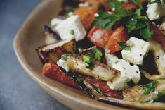 Roasted Vegetable Salad with Feta and Parsley  Kitchy Kitchen 1 salad dressing, 2 salads