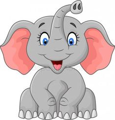Illustration about A cartoon illustration of a little elephant sitting and smiling. Illustration of small, calf, elephant - 47476413 Cartoon Cartoon, Cartoon Drawings, Animal Drawings, Elephant Nursery, Baby Elephant, Nursery Art, Elefante Dumbo, Scrapbooking Image, Cute Elephant Cartoon