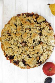 Apfel Birnen Pflaumen Streuselkuchen http://blog.sonntagsfraeulein.de