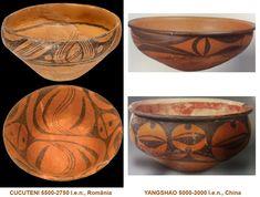 Influenţele civilizaţiei CUCUTENI: YANGSHAO, China (5000-3000 î.e.n.) Altar, Serving Bowls, China, Tableware, Dinnerware, Tablewares, Dishes, Place Settings, Mixing Bowls