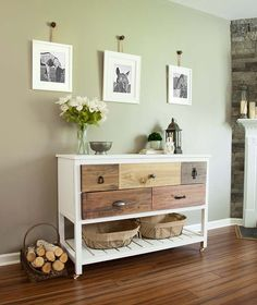 Simple Tweaks for 3 Modern Farmhouse Furniture Projects: Ana White's Reclaimed Wood Console Table
