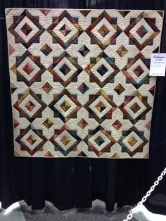 """""""Town Squares"""" Kim Loar, Like the quilt colors, and the way it was quilted."""