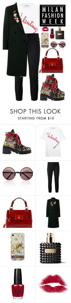 """""""Milan Fashion Week"""" by mrs-malfoy ❤ liked on Polyvore featuring Gucci, Valentino, Marni, Versace, Dolce&Gabbana and Moschino"""