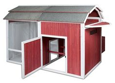 Ides a Safe and Secure Habitat for 6-8 Chickens. *Number of chickens accommodated will vary based on size and breed of chickens. Complete Home for Chickens Includes: 3-Bay Locking Nesting Box Enclose...