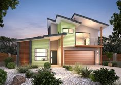 Find 3 bedroom house plans in VIC. Refine the search and discover the best 3 bedroom home designs & floor plans for your dream home. Home Design Floor Plans, Melbourne House, Bedroom House Plans, Home Builders, House Colors, Ideal Home, Facade, New Homes, House Design