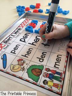 Short vowel word work practice