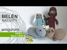 Tutorial Belén Amigurumi Part 7: Mula y buey - YouTube