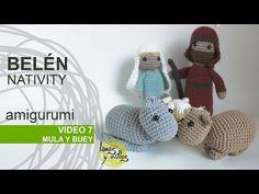 Tutorial Belén Amigurumi Part Virgen María (Nativity English subtitles) Amigurumi Tutorial, Amigurumi Patterns, Amigurumi Doll, Crochet Crafts, Crochet Dolls, Crochet Videos, Xmas Crafts, Filet Crochet, Crochet Animals