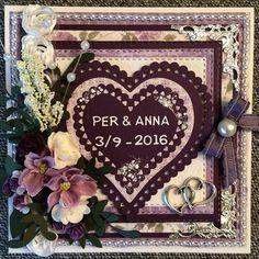 Idag visar jag ett bröllopskort som jag blev ombedd att göra.   Har använt mig…