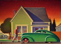 sunrise by Robert LaDuke Nostalgia Art, Mobile Art, Art Deco Posters, Garage Art, Vintage Travel Posters, Vintage Ads, Automotive Art, Paintings I Love, Retro Art