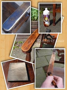 The removal of grease on antique furniture is one of the early stages of restoration. Over the years it builds up and forms a thick black layer, this has to be removed not only for the look but it can affect the polish applied later.  This involves using turps and fine wire wool to slowly break down the grease, once dried then a fine sanding pad removes the last bit and it's ready to be stained.