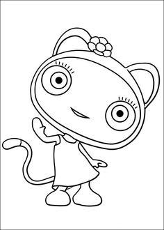 Waybuloo Fargelegging for barn. Tegninger for utskrift og fargelegging nº 12