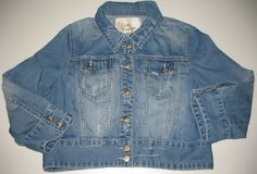 Urban Behavior Women's Size Large Jean Jacket Cropped Faded | eBay Urban Behavior, Love Jeans, Jean Skirt, Vest Jacket, Girl Outfits, Fashion Design, Fashion Trends, Clothes For Women, Denim