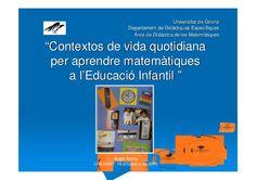 Contextos de vida quotidiana per aprendre matemàtiques a l'educació...