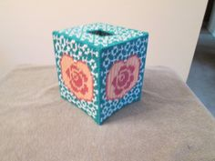 Tissue Box Boutique Style in Plastic Canvas by CraftsforSalebyJune on Etsy