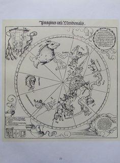 Albrecht Dürer DIE SÜDLICHE HIMMELSKUGEL Reproduktion Art Print
